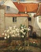 Norman Garstin (1847-1926)  Madonna Lilies Oil on panel, 27.3 x 21cm (10¾ x 8¼'') Signed, inscr..., Fine Irish Art at Adams Auctioneers
