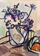 Nick Nicholls (1914-1991) Still Life with Purple Flowers  Gouache on paper, 36.5 x 26.5cm (14½ x..., Fine Irish Art at Adams Auctioneers