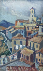 Dorothy Blackham (1896-1975) The Old Town Orvie Oil on board, 24 x 15cm (9½ x 6'') Inscribed art..., Fine Irish Art at Adams Auctioneers