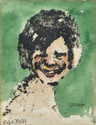 William Conor RHA RUA ROI OBE (1881-1968) Aw You Linoprint, handcoloured by the artist, 10 x 7.5c..., Fine Irish Art at Adams Auctioneers