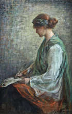 Lily Williams ARHA (1874-1940) Hibernia Pastel, 65.5 X 42 (25¾ X 16½'') Signed  This is an impo..., Fine Irish Art at Adams Auctioneers