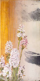 Tim Goulding (b.1945) Wild Orchids (1974) Oil on board, 29 x 15cm Signed and dated 1974 verso  Ex..., Fine Irish Art at Adams Auctioneers