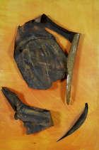 Deborah Brown (b.1927) Paper Mache forms on pierced orange canvas (1965) Oil on Canvas and Paper ..., Fine Irish Art at Adams Auctioneers