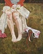Eleanor McCaughey (20th/21st Century) April Oil on canvas, 50 x 41cm Signed , Fine Irish Art at Adams Auctioneers