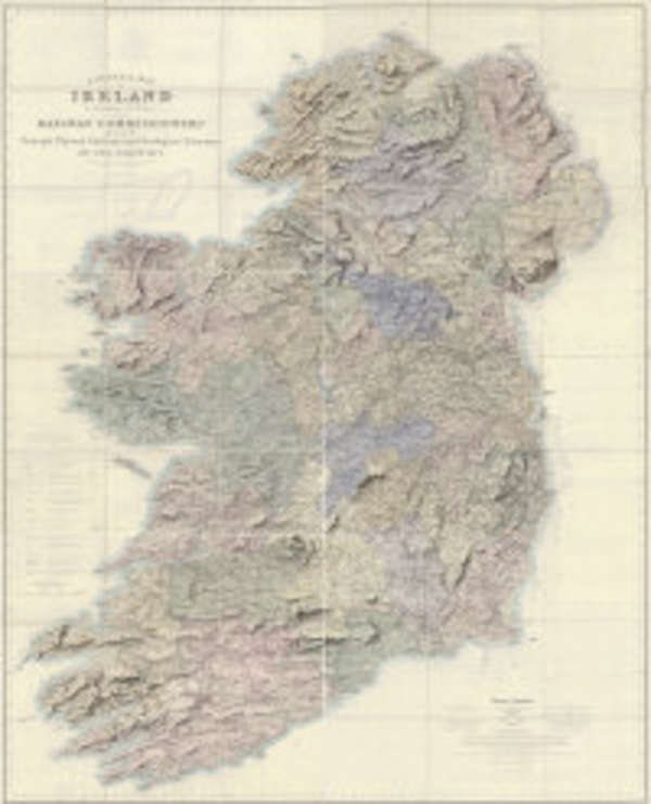 Large Map Of Ireland.Lot 214 Griffith A General Map Of Ireland To Accompany The Report