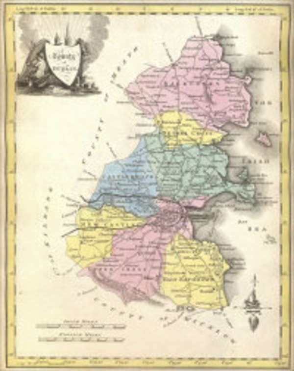 County Map Of Ireland With Cities.Lot 256 Grierson Etc New And Correct Irish Atlas Being A Complete