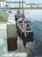 Cecil Maguire RHA RUA (b.1930) Claddagh Quay, Galway Oil on board, 60 x 45cm (23¾ x 17½'') Sign..., Fine Irish Art at Adams Auctioneers