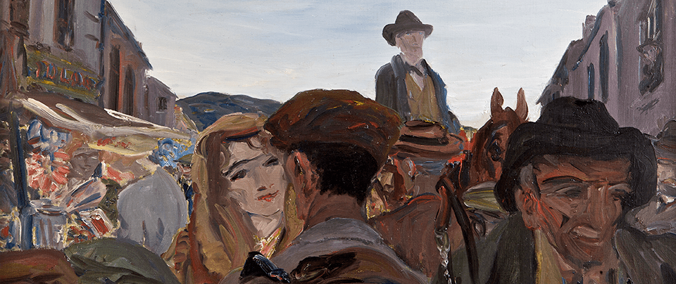 JACK BUTLER YEATS RHA (1871-1957) A Fair Day, Mayo  Sold for - €1,000,000