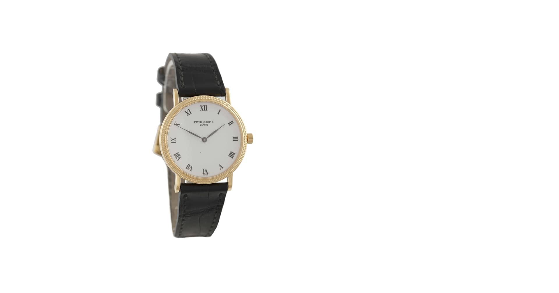 A Gold Self-Winding Wristwatch