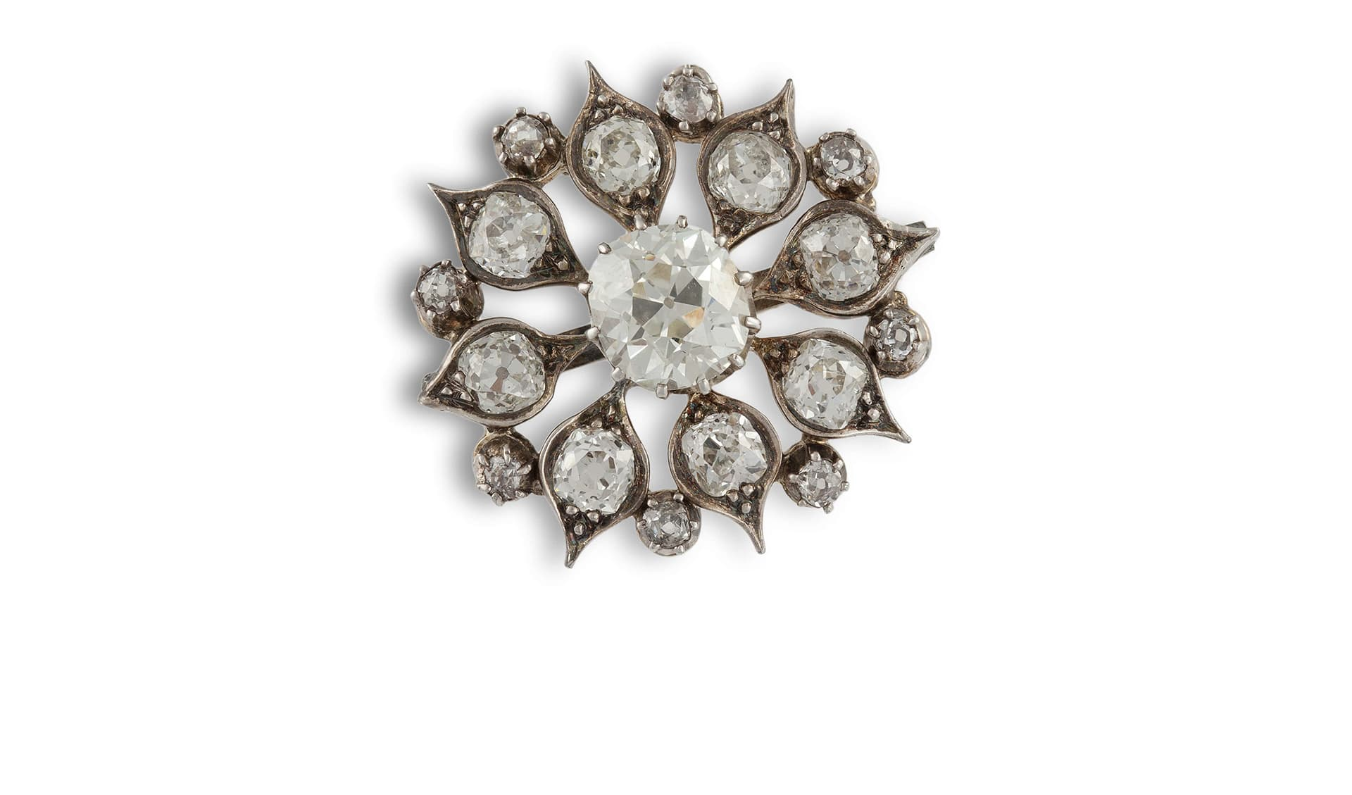 A Late 19th Century Diamond Star Brooch - Sold for €11,000