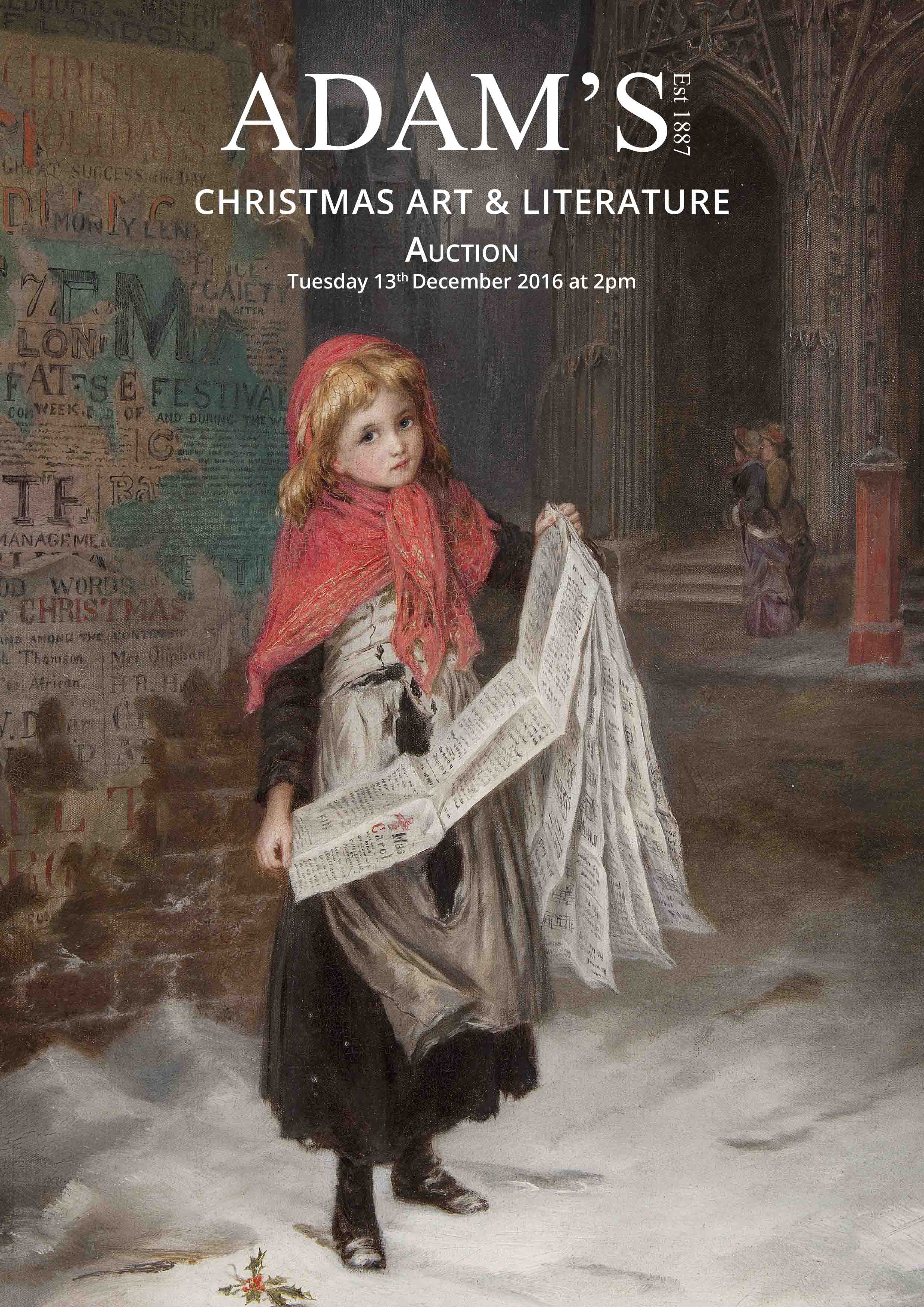 CHRISTMAS IRISH ART & LITERATURE AUCTION